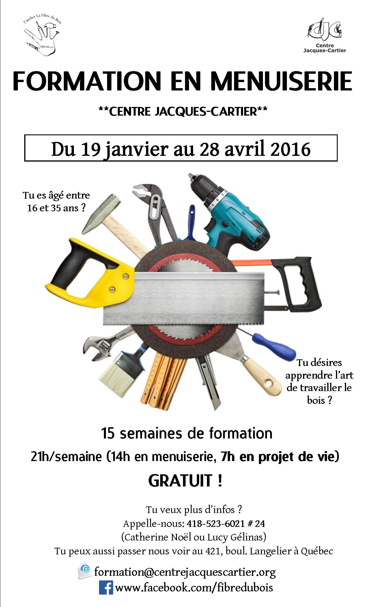 Formation Menuiserie D Art l'atelier la fibre du bois recrute ! - centre jacques-cartier