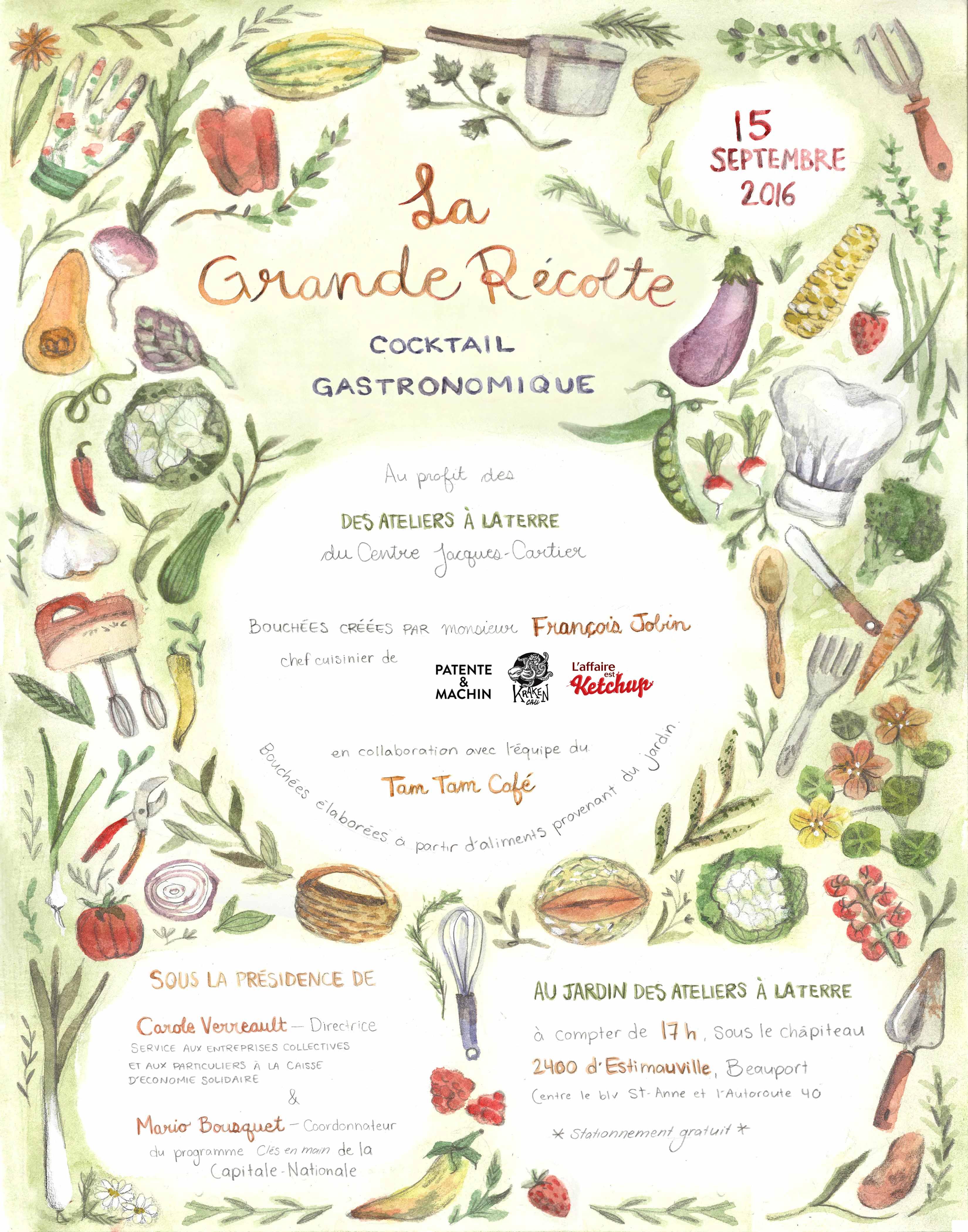 Affiche réalisée par l'illustratrice Mathilde Cinq-Mars. mathildecinqmars.com